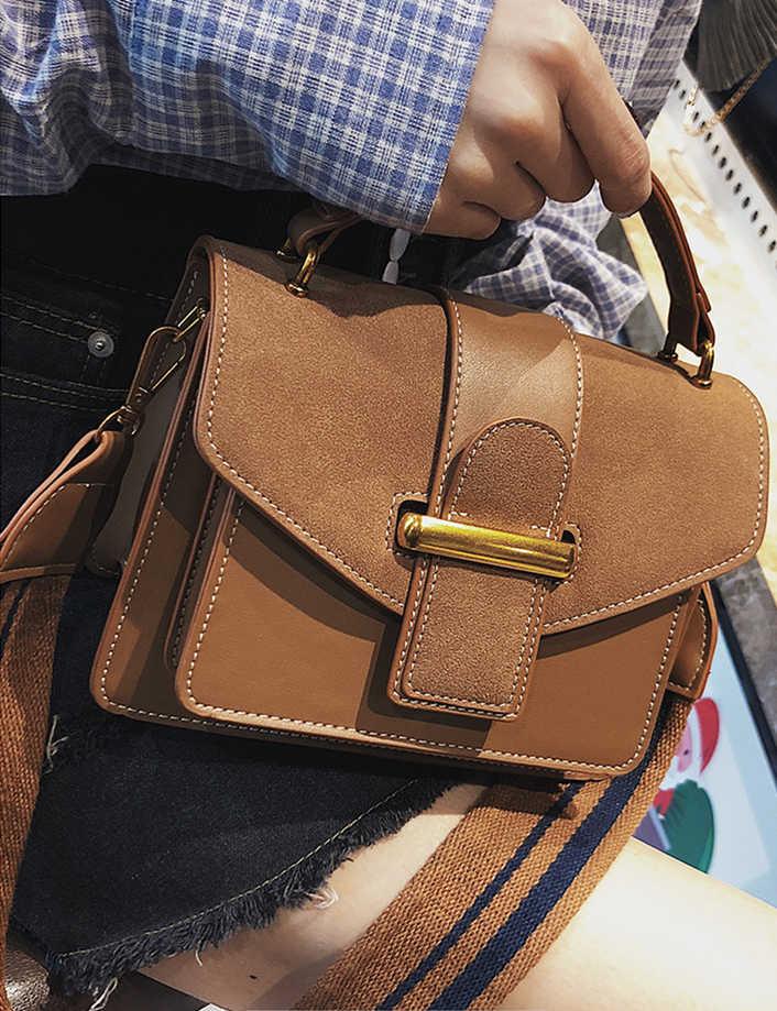 Moda bolsas de ombro largo cinta fosco pequeno quadrado bolsa de ombro diagonal embreagem feminina designer carteira bolsa bolsos mujer