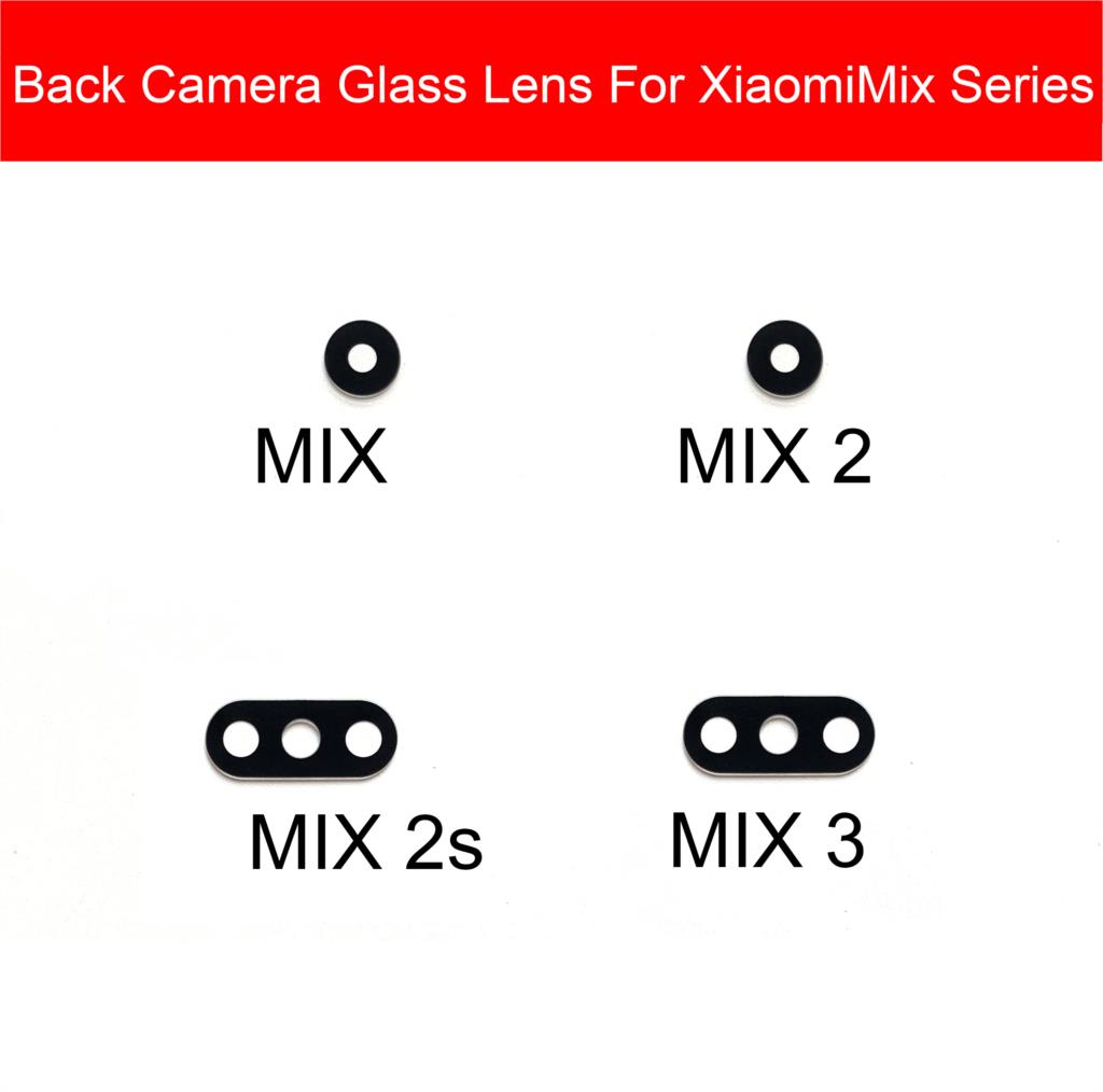 Rear Glass Lens For Xiaomi Mi Mix 2 2s 3 Main Back Camera Lens Glass Material With Sticker Phone Replacement Parts Accessory
