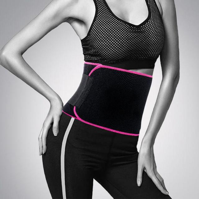 Slimming Waist Belt Trainer Sweat Sports Adjustable Belt Back Support Unisex Adjustable sports fitness sweat belt Waist Support