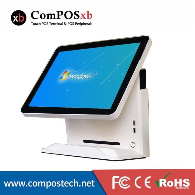 Windows POS systèmes Pos tout en un 15 pouces POS Terminal capacitif tactile caisse enregistreuse pour la vente au détail 1