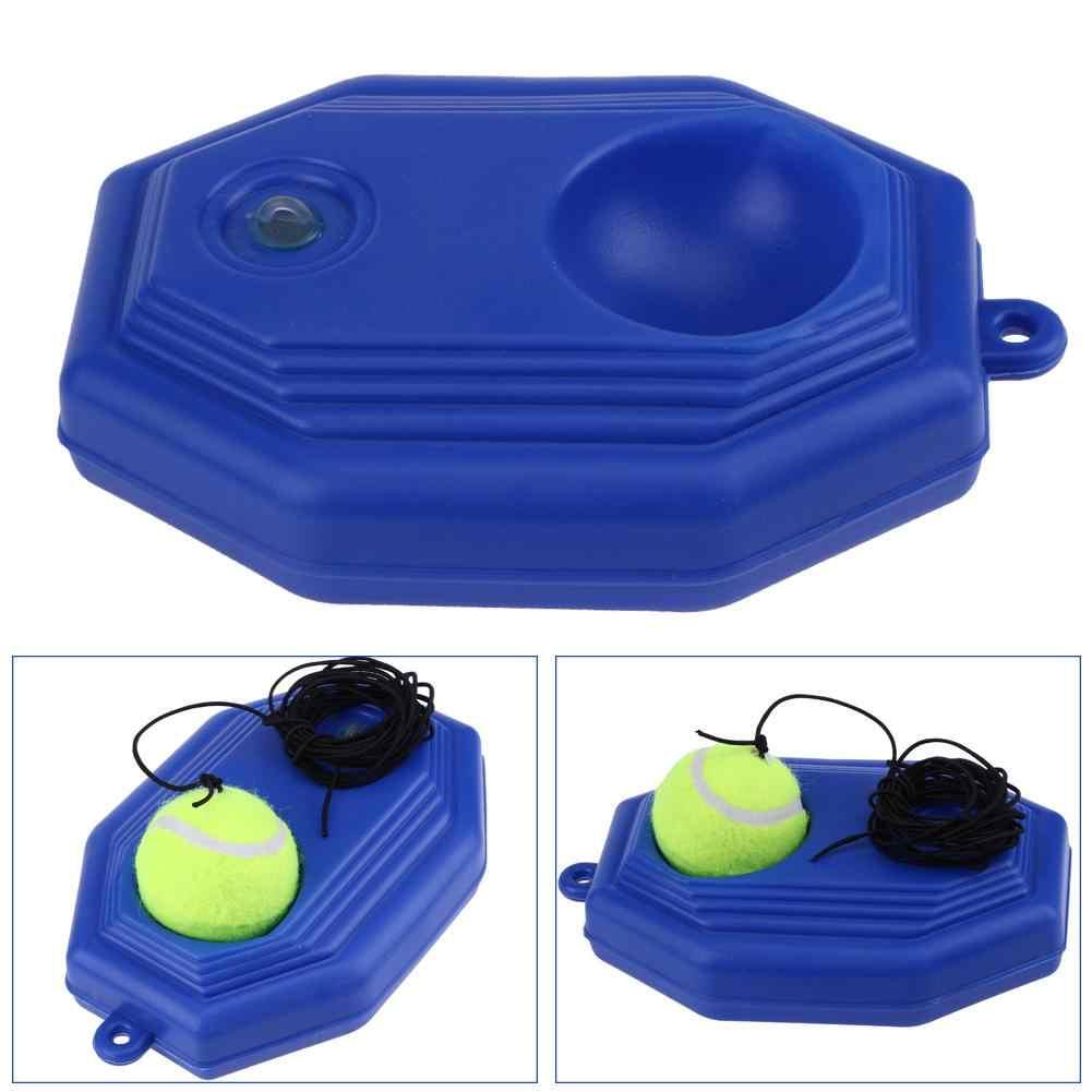 Tenis uygulama eğitmen ağır görev tenis eğitim yardımları aracı ile elastik halat topu ribaund tenis eğitmeni Sparring cihazı