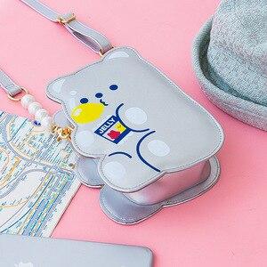 Image 4 - Сумка Кроссбоди Bentoy из искусственной кожи для девочек, сумка Органайзер для телефона, сумка через плечо, милый лазерный подарок для девочек подростков