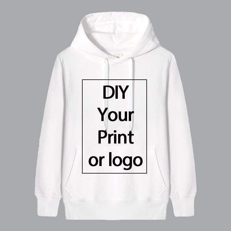 Parent-child Custom Printed Hoodie Customize Logo Personalized Hoodie Men/Women/Children's White Harajuku Sweatshirt
