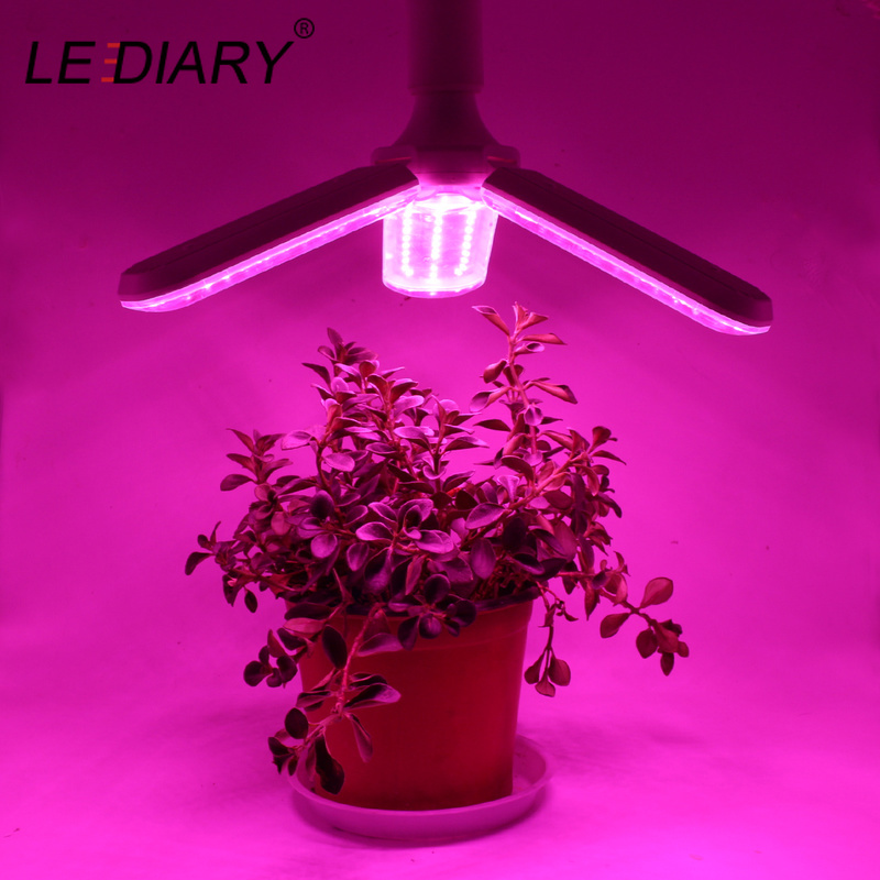 LEDIARY 100-240V Full Spectrum LED Grow Light Foldable Bulb Angle Adjustable For Indoor Greenhouse Veggies Seed Energy Saving CE
