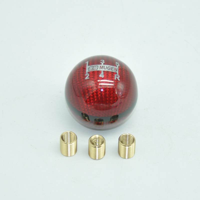 Real Carbon Fiber MUGEN Gear Shift Knob 5//6 Speed Manual Automatic Spheric