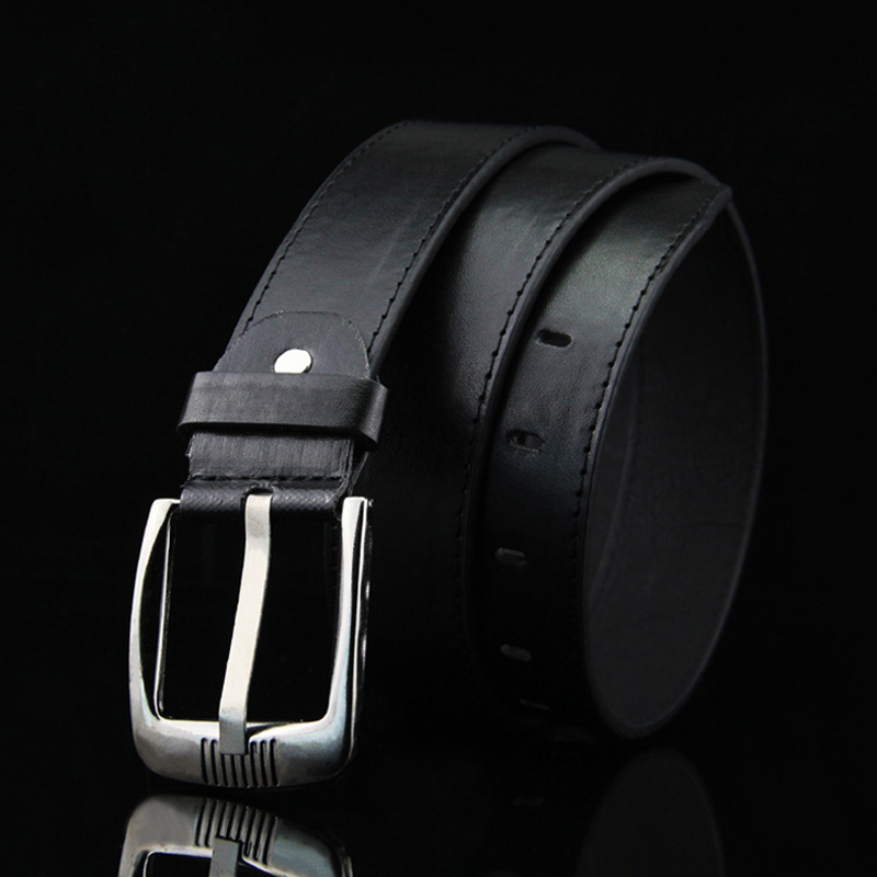 Leather Men's Belt Classic Pin Buckle New Fashion Modern Youth Design Male Strap Luxury Business Trouser Belts High Quality Gift