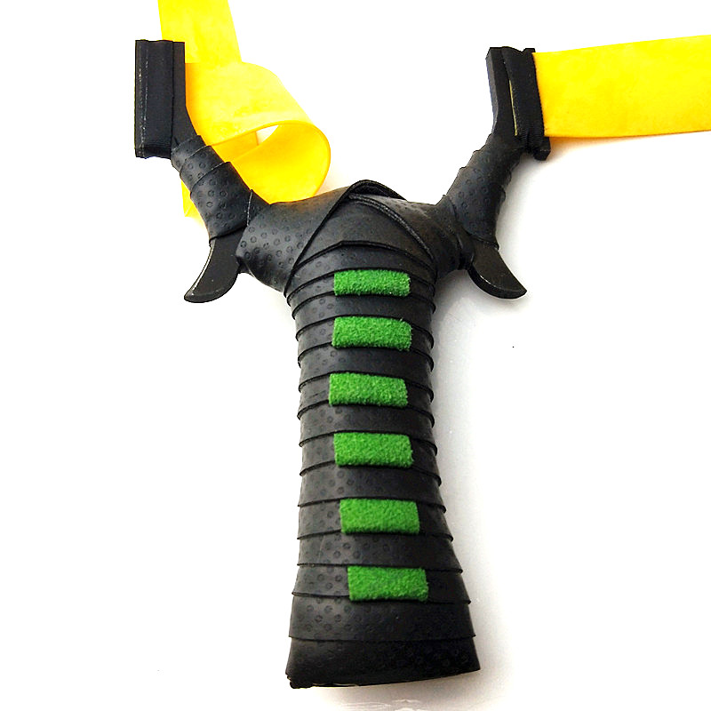 Hot sale high quality black steel hunting slingshot TTF flat rubber band with adult outdoor game shooting slingshot 2019 new image