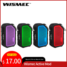 Oryginalny Wismec Active Mod 80W Box Mod z muzyka Bluetooth wodoodporny i odporny na wstrząsy Mod Box VW Bypass tc-ni tc-ti TC-SS TCR tanie tanio Other Brak Akumulator litowo polimerowy Wismec Active Mod 80W With Bluetooth Music