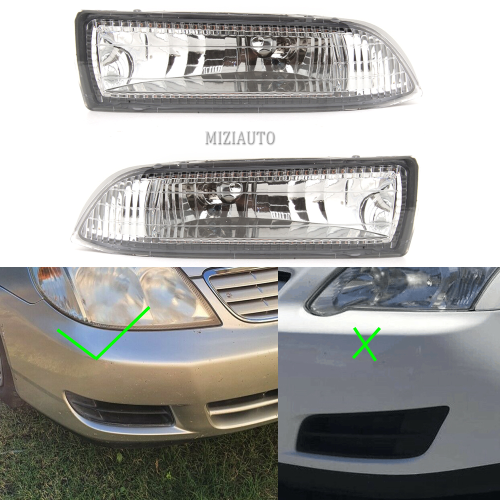 Front Fog Lights For Toyota Corolla 2000 2001 2002 2003 2004 Clear Fog Lamp Replacement Driving Light Fog Light Foglights