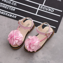 Princess Shoes Cow Muscle Soft Sole Non-slip Gladiator Open Toe Shoes For Girls New Childrens Sandals Elegant Petal Upper цена 2017