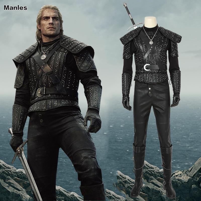 Wild Hunt  Geralt Of Rivia Costume Cosplay Costume TV Series Adult  Halloween Custom Shoes Boots Unisex
