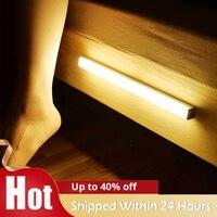 Lámpara nocturna LED con Sensor de movimiento, luz inalámbrica para cocina, dormitorio, pasillo, armario, pared, decoración del hogar