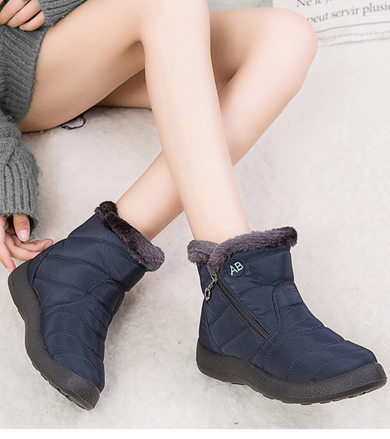 Women Boots 2020 Fashion Waterproof Snow Boots For Winter Shoes Women Casual Lightweight Ankle Botas Mujer Warm Winter Boots