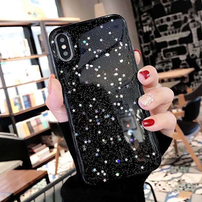 H0693648ae4594eda8d0f2b14f91a4e54A - Ottwn Glitter Phone Case For iPhone 11 Case 11 Pro XS Max XR X 6 6s 7 8 Plus Love Heart Star Sequins Soft Bling Clear Cover Capa