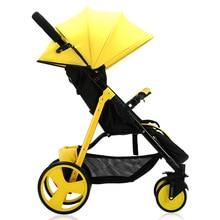 6Kg Lightweight Baby Stroller Traveling Pram for Newborns High Landscape Four-wheel Luxury 3 in 1 Pink