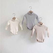 Milancel 2021 primavera roupas de bebê gola alta infantil meninos bodysuit manga completa da criança menina macacão