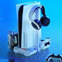 Cargador de controlador para consola de juegos Sony, soporte de Control de ventilador de enfriamiento de pie para Playstation PS 5 PS5, accesorios