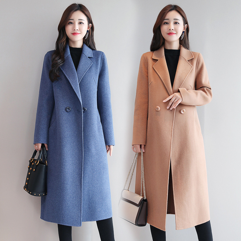 Womens Red Coat  Cashmere Plaid  Korean Wool Winter Coat Female Tops and Blouses  Womens Plus Size Fashions  Female Jacket B108Wool & Blends   -