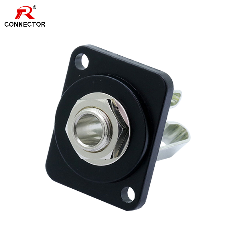 1pc 6.35mm Jack Panel Mount Chassis Connector, Excellent Quality, Stereo, 6.35mm Female Socket, Soldering