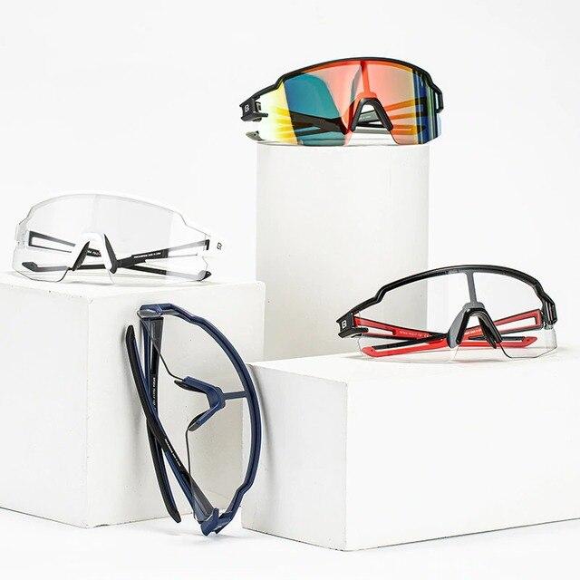 ROCKBROS Photochromic Cycling Glasses Bicycle Glasses Sports Men's Sunglasses MTB Road Bike Eyewear Protection Goggles 3 Colors 2