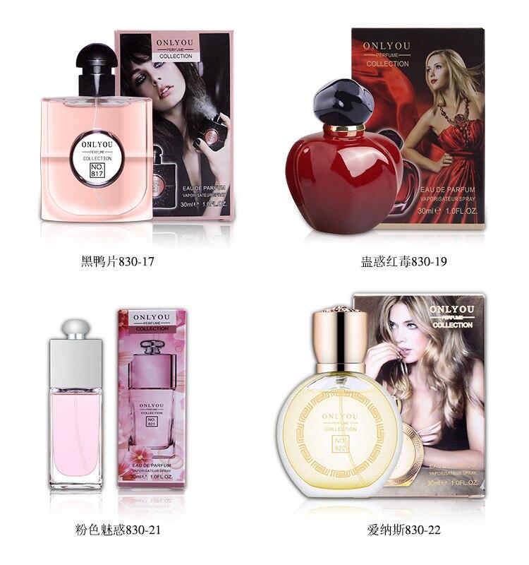 JEAN MISS Brand Perfume Women Parfum Atomizer Perfum Bottle Glass Fashion Lady Flower Fragrance Perfume 30ML