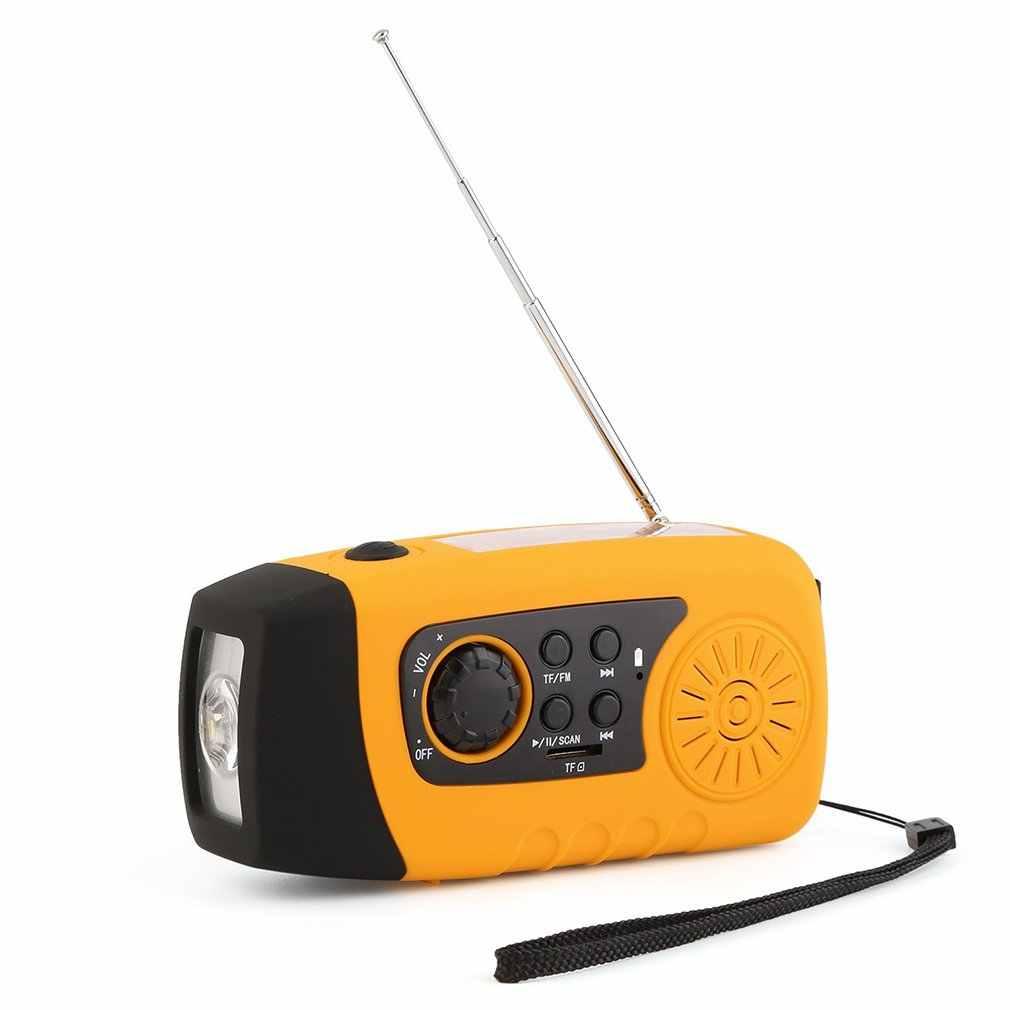 ポータブル屋外充電式懐中電灯 MP3 オーディオ音楽プレーヤー FM ラジオ懐中電灯スピーカー