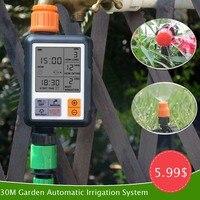 30 m jardim kit de irrigação por gotejamento sistema de irrigação por aspersão sistema de rega inteligente casa|Kits de rega| |  -