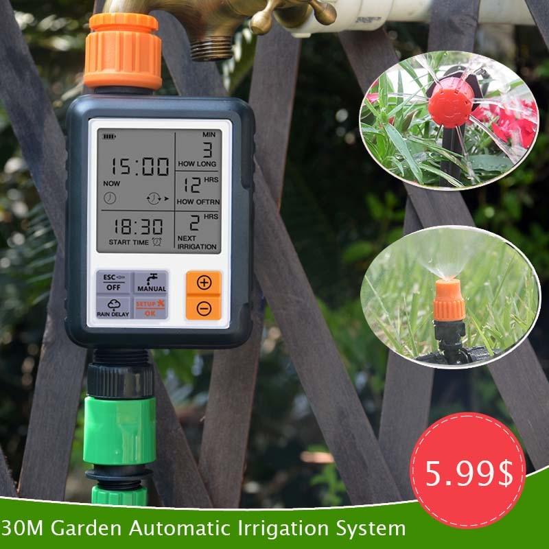 30M Garden Automatic Irrigation Kit Drip Irrigation Sprinkler System Home Intelligent Sprinkler System