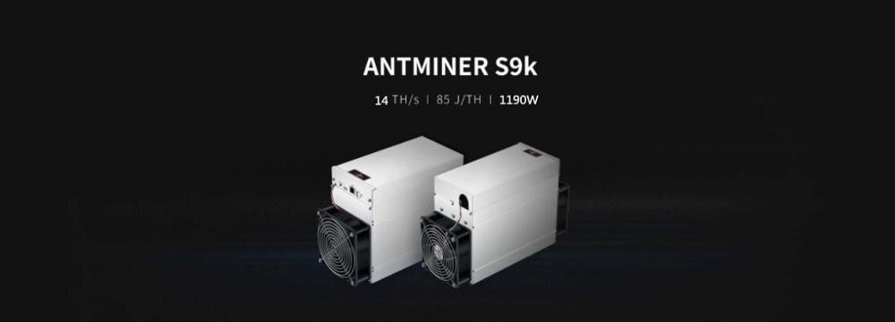 Nuovo AntMiner S9k 14TH/S Con ALIMENTATORE Bitcoin BCH BTC Minatore Meglio di S9 13.5t 14t S9j 14.5t S9 SE S11 S15 S17 T9 + WhatsMiner M3
