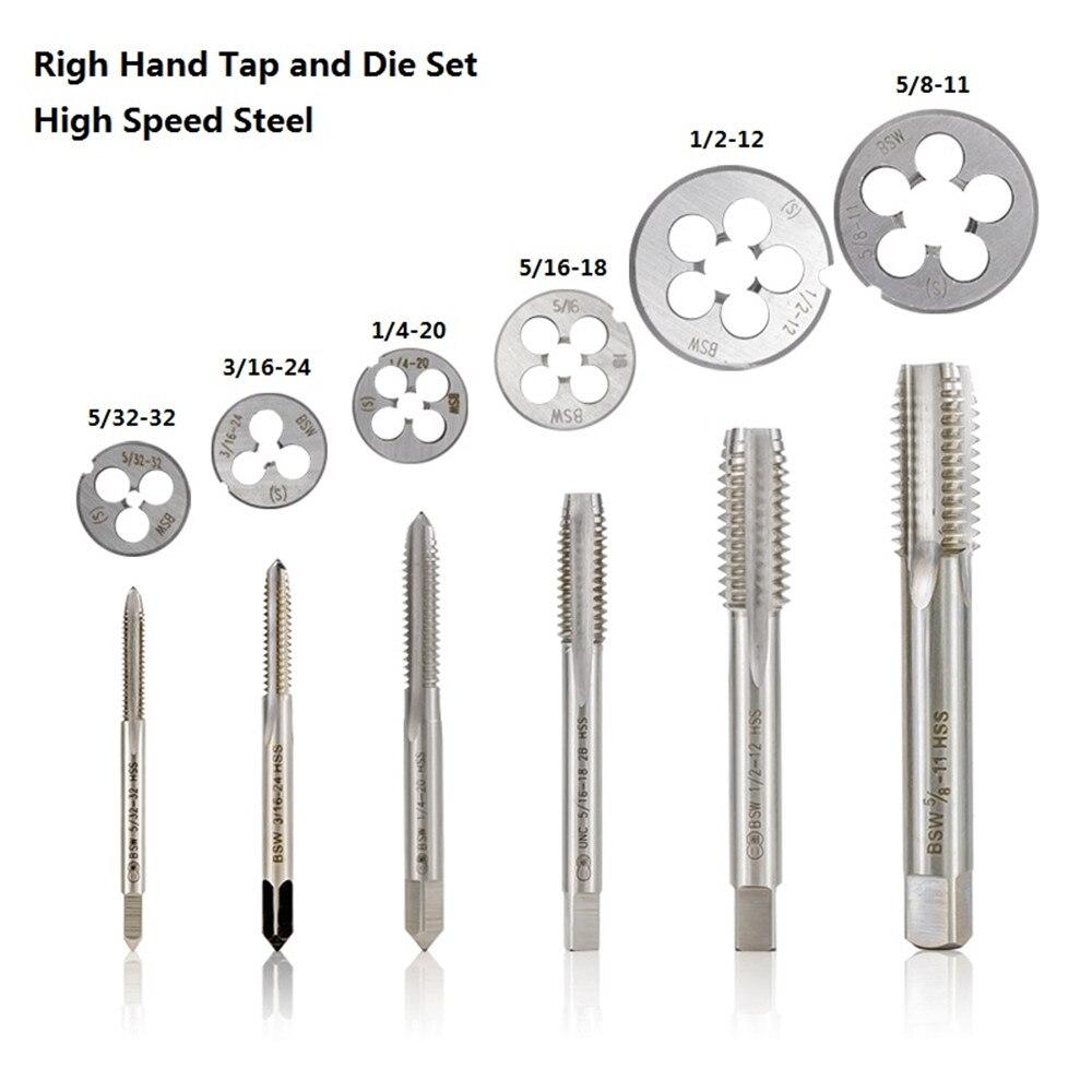 1pc  HSS Machine 1//2-12 UNS Plug Tap and 1pc 1//2-12 UNS Die Threading Tool