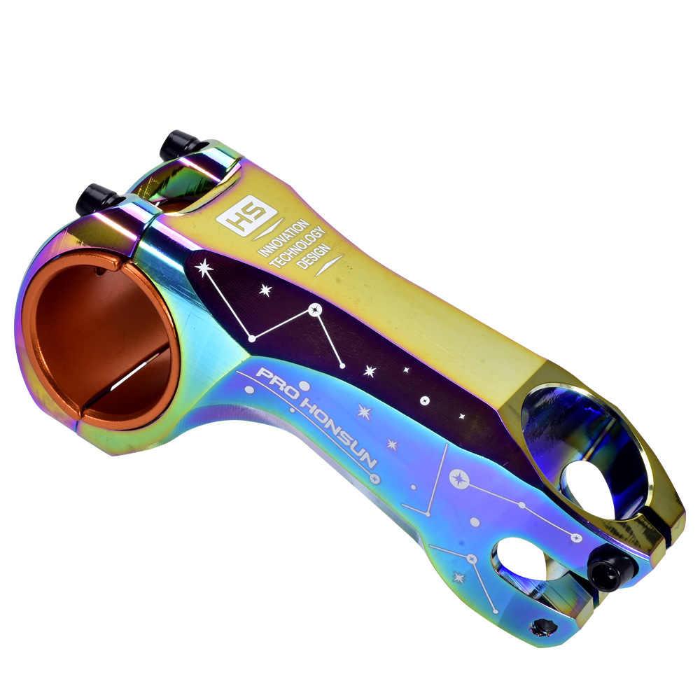 Tallo de aluminio de 90mm para bicicleta de montaña XC AM DH, vástago de 17 grados para manillar de arco iris de 31,8/35mm