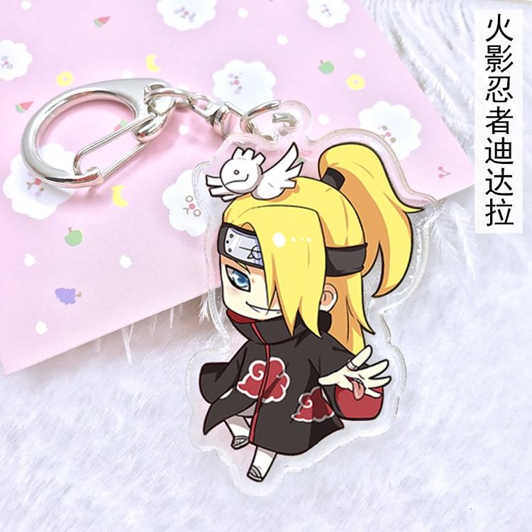 Hot Anime Naruto Kakashi Acrylic Key Ring Pendant Keychain Cosplay Gift
