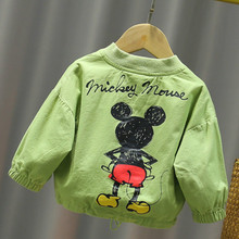 2020 Autumn New Children's Back Cartoon Print Jacket Boys and Girls Baby Baby Foreign 1-3 Years Old Zipper Cardigan Jacket