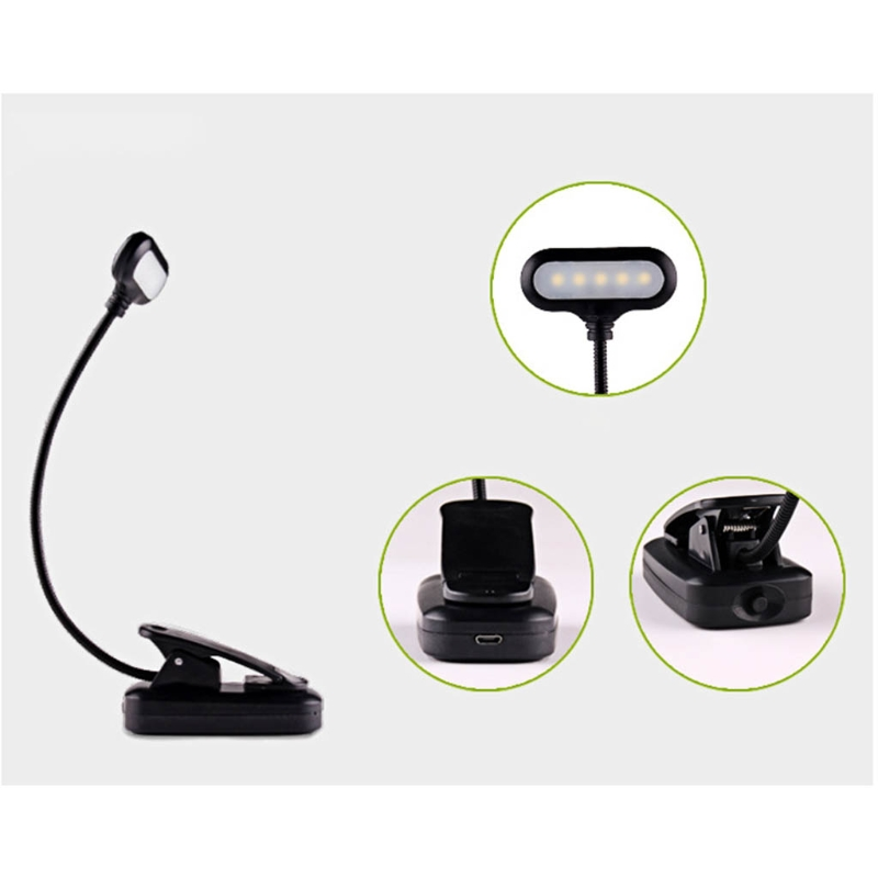 Rechargeable Book Light for Reading in Bed Eye Protection LEDs Clamp Light,Book Light, Reading Light