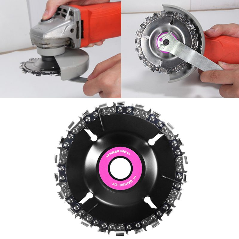 Angle Grinding Disc Chain Saw Blade 4 Inch 14 Tooth Finish Cutting Engraving Sharping Wood Plastic Hard Rubber