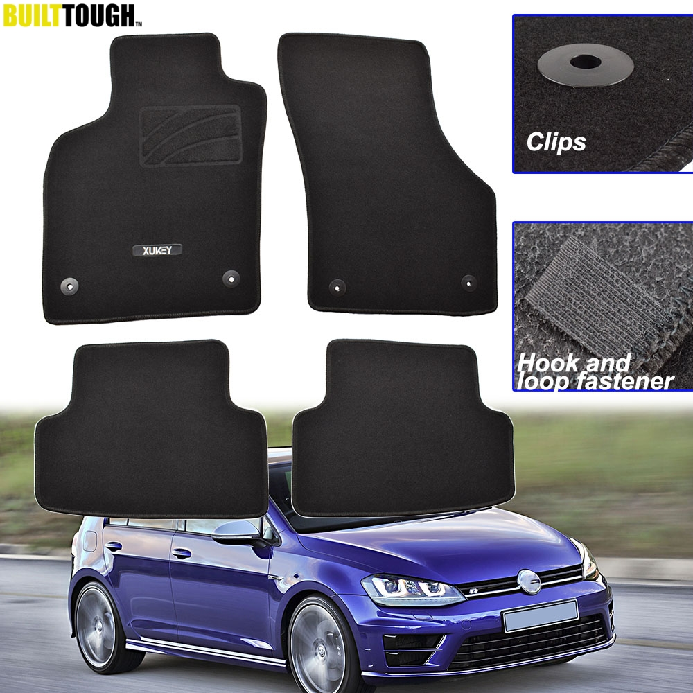 For VW GOLF 7 MK7 GTI R Jetta Sportwagen 2013 - 2019 LHD Front Rear Car Floor Mat Mats Carpet Liner Pad 2014 2015 2016 2017 2018