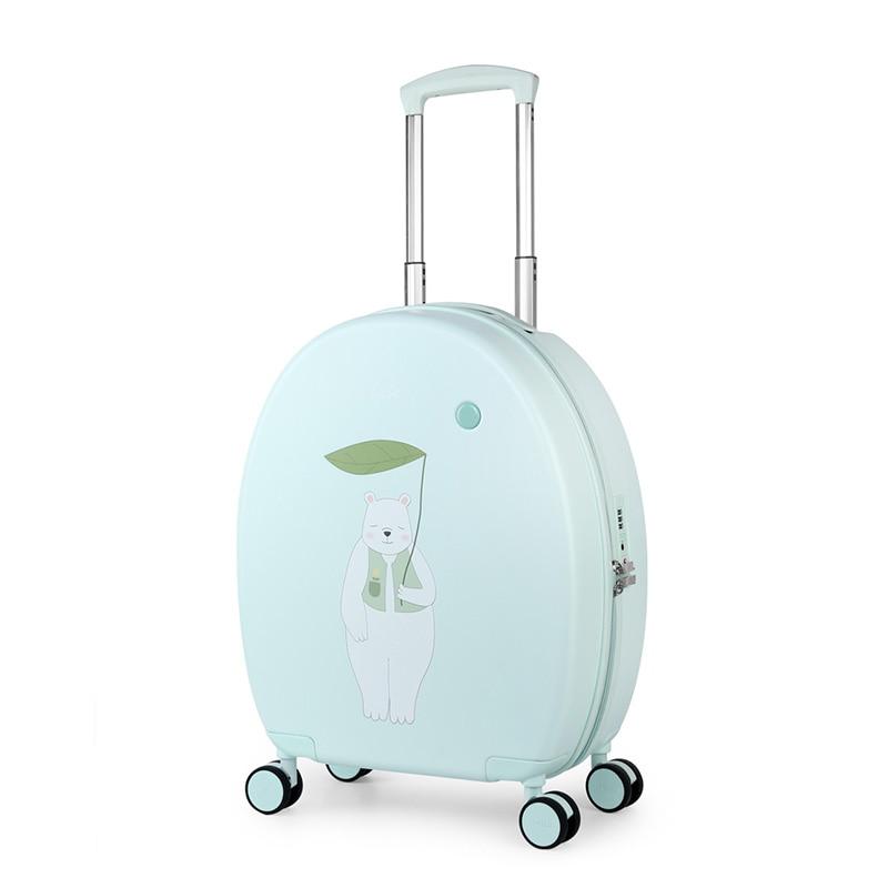 Mixi Children Cartoon Luggage Teeneager Students Travel Suitcase 100% Bayer PC Trolley Case TSA Lock Spinner Wheels 20 24 Inch