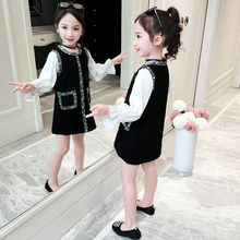 Girls Dresses for Party and Wedding 2019 Autumn Kids with Sleeves Dress Girl Princess