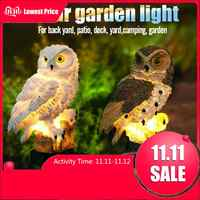 Owl Solar Light With LED Garden Lights 2019 New Arrival Solar-Powered Lawn Lamp Home Outdoor Yard Garden Creative Solar Lamps