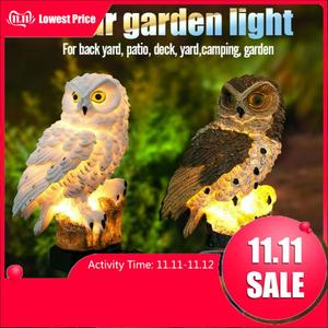 Owl Solar Light With LED Garde