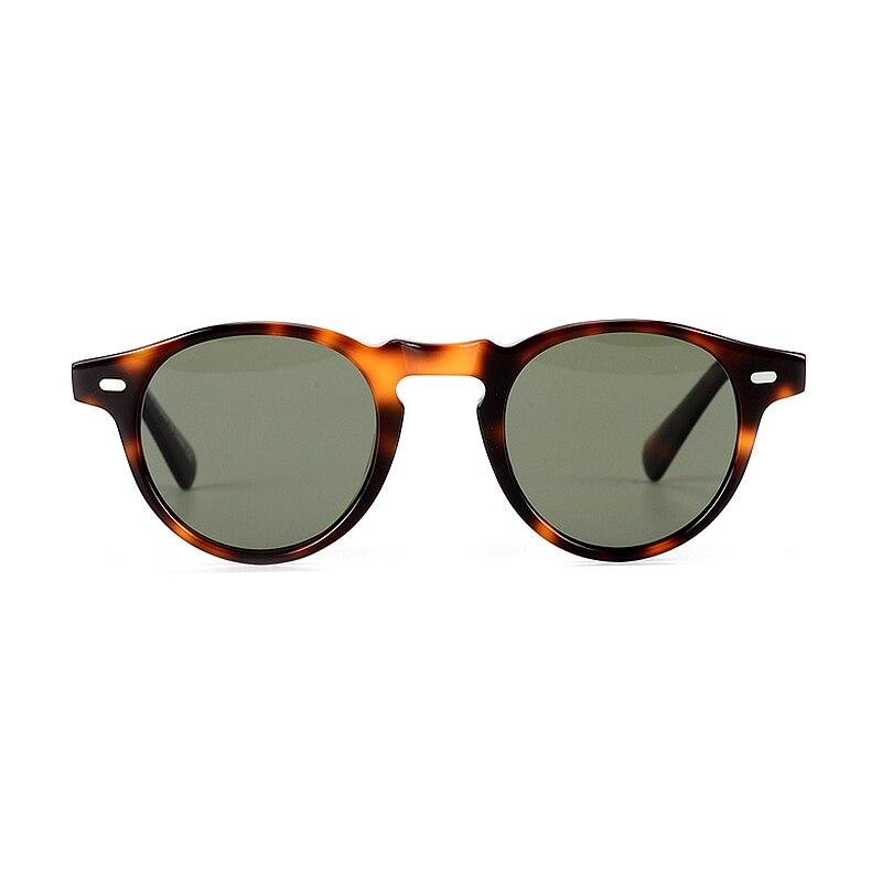 Gregory Peck Sunglasses Retro Round Frame OV5186 Men Polarized Vintage Eyeglasses Women Driving Glasses Light Acetate Eyewear