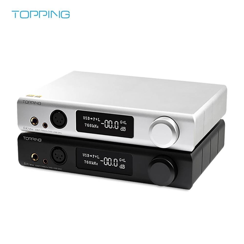 Topping DX7 Pro ES9038Pro DSD DAC USB Bluetooth 5,0 equilibrada DAC auriculares AMP 32Bit/768KHZ DSD512 1024 CSR8675 IIS de entrada