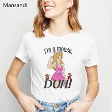 Cartoon princess printed t-shirt women clothes 2019 vogue t shirt camiseta mujer summer fashion tumblr tops tee shirt femme 057
