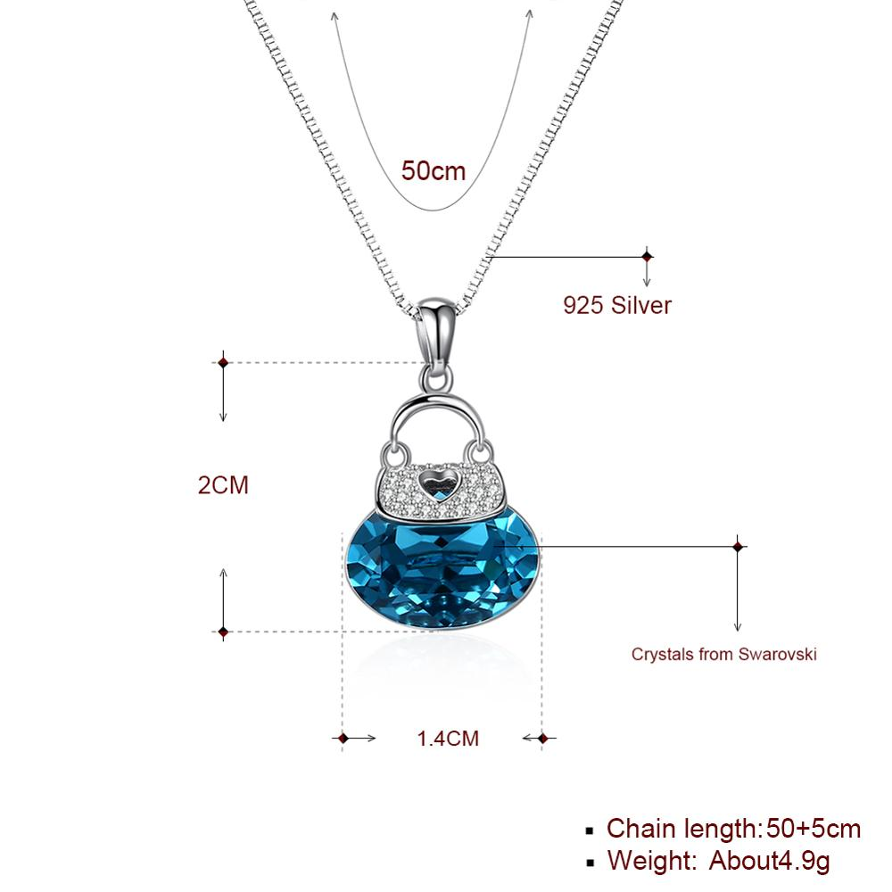 High Quality Small Blue Bear Pendant Fashion Women Casual Luxury Necklace 2019 New Jewelry in Pendant Necklaces from Jewelry Accessories
