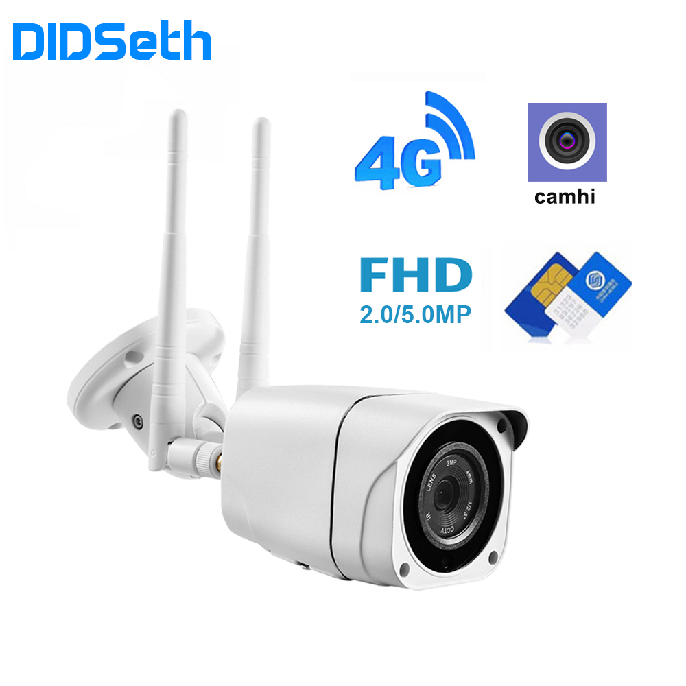 DIDseth 3G 4G WIFI Camera 1080P/5MP Wireless Outdoor Security Bullet IP Camera GSM P2P H.264 Onvif APP CamHi