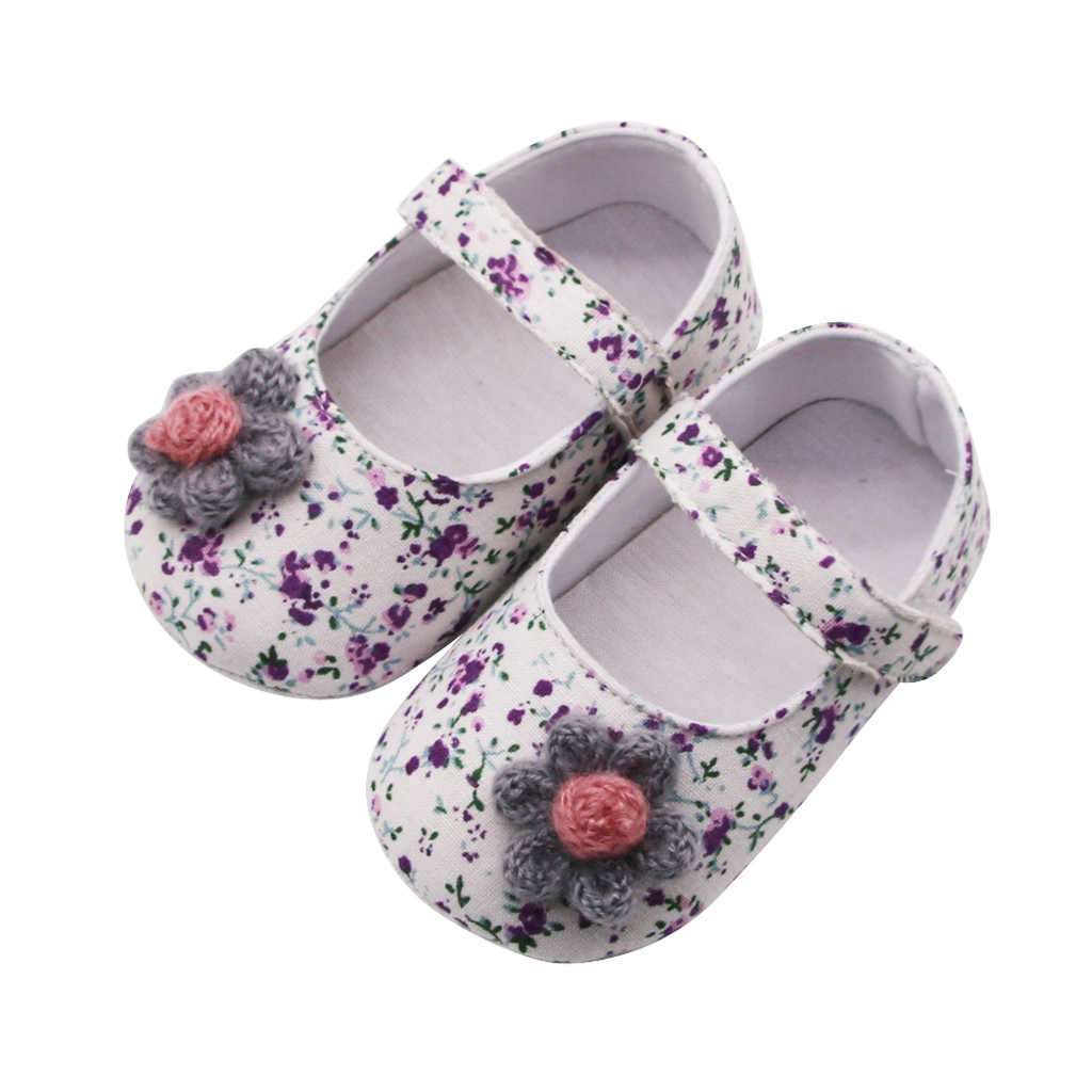 New Born Baby Girl Boys  Shoes 1 Year Infant Newborn Toddler Shoes Flowers Soft Baby Girl Baby Booties 2019 First Walkers