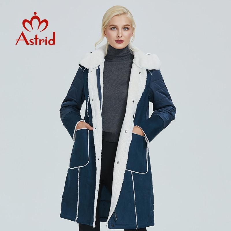 2019 Astrid New Winter Jacket Women Plus Size Jacket Parka Solid Leather Clothes Women Winter Coat AM-2082