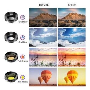 Image 5 - APEXEL 11 in 1 kamera telefon Lens kiti geniş açı makro tam renkli/grad filtre CPL ND yıldız filtresi iPhone Xiaomi için tüm akıllı telefon