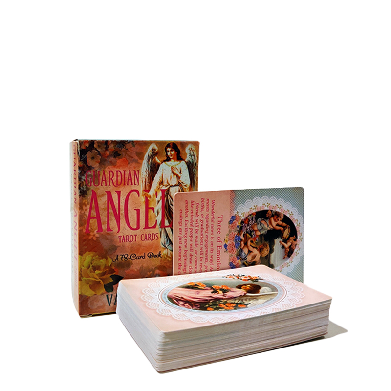 78 Pcs Sheets Guardian Angel Tarot Cards Deck Game Board Games Tarot Card For Party Games Playing Cards Entertainment