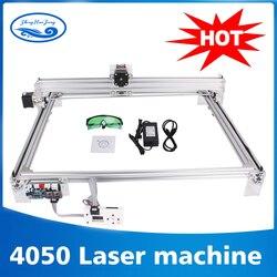 Área de trabajo 40cm x 50cm 500 mw/2500 mw/5500 mw láser cnc máquina impresora CNC de imagen de máquina de grabado láser violeta de escritorio